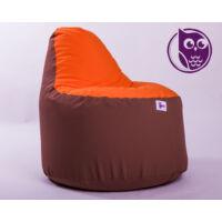 Barna-Narancs Babzsákfotel