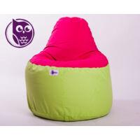 Zöld-Pink Babzsákfotel