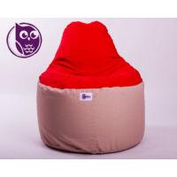 Drapp-piros Babzsákfotel