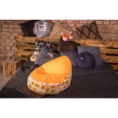Babzsákfotel Narancs-Elefántos babáknak