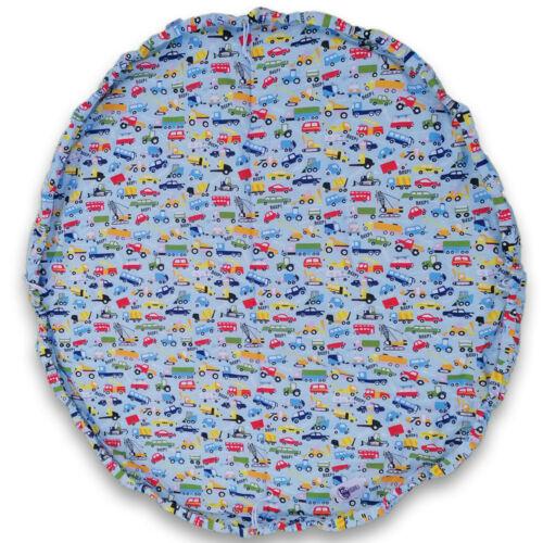 Játéktároló játszószőnyeg -kék autós