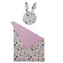Kép 1/5 - Babaágynemű szett -rózsaszín, két párnával és takaróval