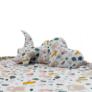 Kép 3/3 - Játéktároló játszószőnyeg - rózsaszín erdei