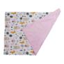 Kép 2/5 - Babaágynemű szett -rózsaszín, két párnával és takaróval