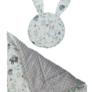 Kép 2/3 - Babaágynemű szett -szürke, két párnával és takaróval